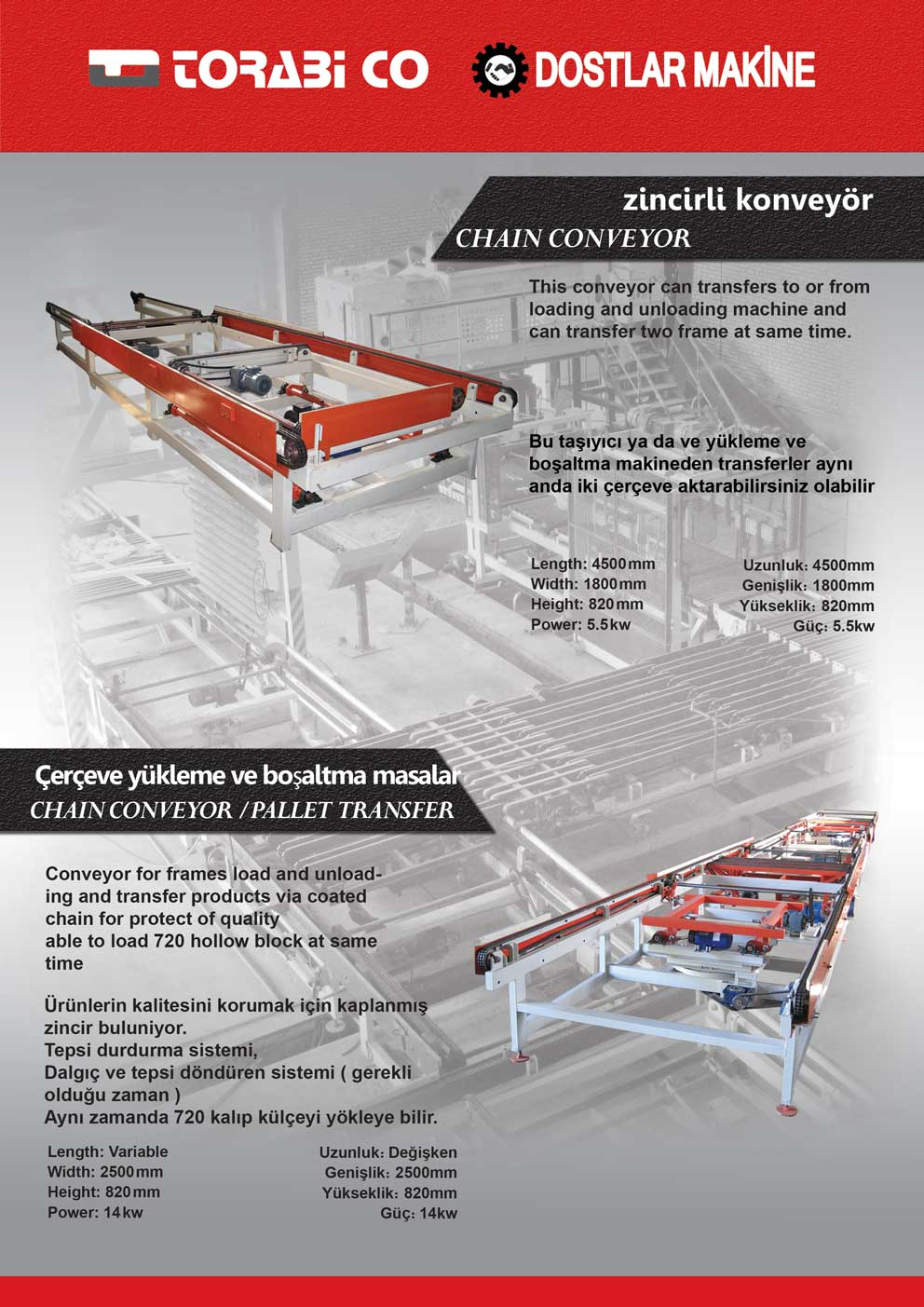 Chain Conveyor - Pallet Transfer